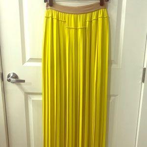 BCBG pleaded maxi skirt (size XS)